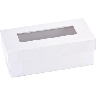 Mini boite à dragées rectangulaire blanche lot de 6