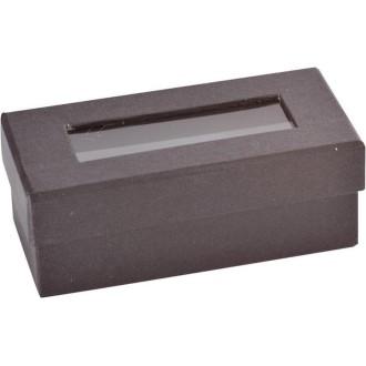 Mini boite à dragées rectangulaire noire lot de 6