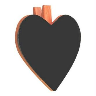 Marque place porte nom ardoise coeur orange Lot de 8
