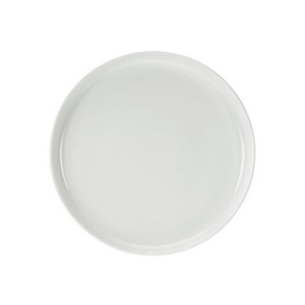 6 Assiettes à dessert rondes blanches petit rebord - Photo n°1