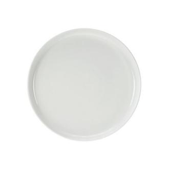 6 Assiettes à dessert rondes blanches petit rebord