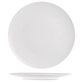 6 Assiettes plates fluide blanches