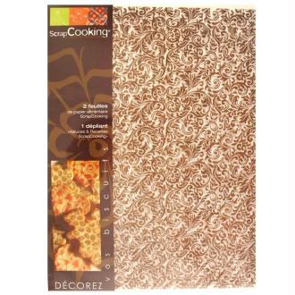Papier cuisson Scrapcooking Versailles 2 feuilles 21 x 30 cm