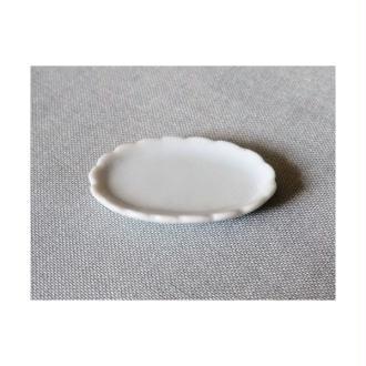 Plat Ovale 34mm Céramique Blanche