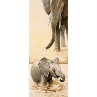 Image 3D Animaux - Eléphanteau gauche 20 x 50 cm