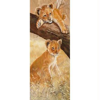 Image 3D Animaux - Lionceaux gauche 20 x 50 cm