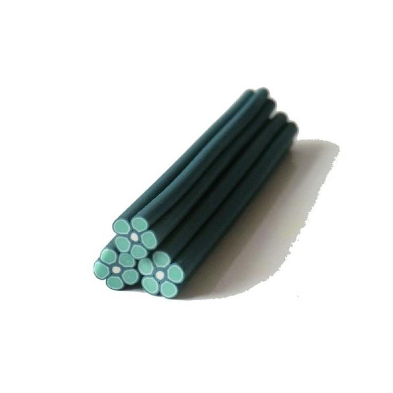 cane en p te polym re 5mm fleur vert canes fimo creavea. Black Bedroom Furniture Sets. Home Design Ideas