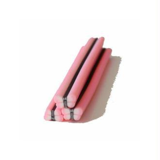 Cane en Pâte Polymère 5mm PAPILLON ROSE CLAIR