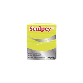 Pâte Sculpey Iii Acid Yellow Jaune Acide 57g