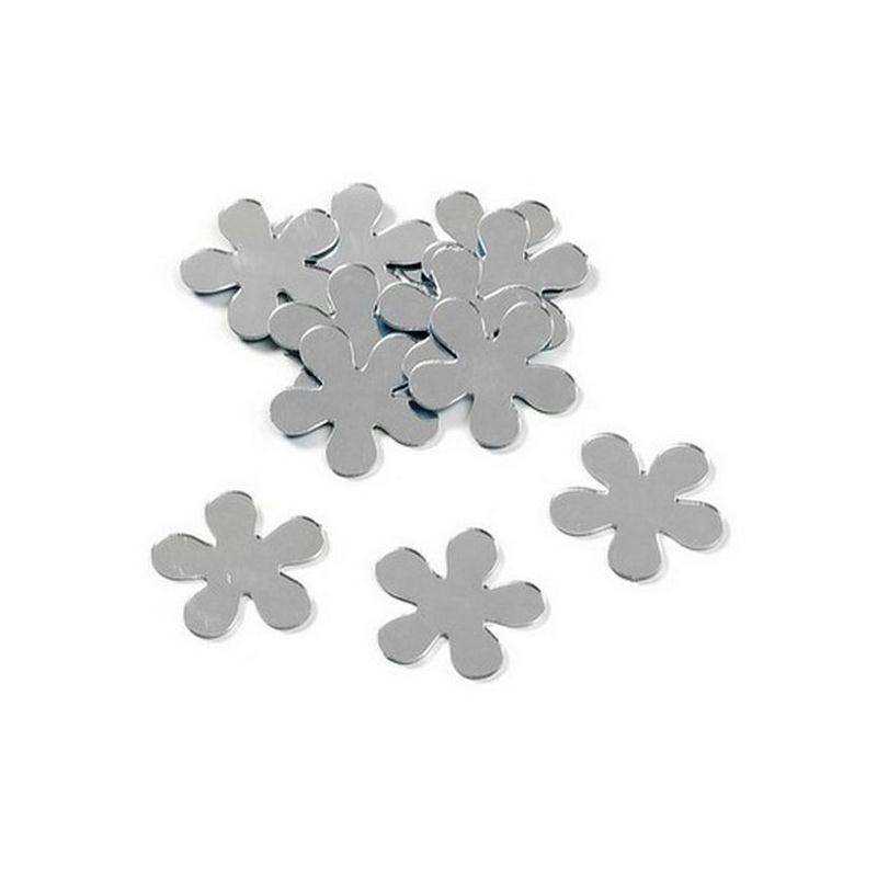 Miroirs d coratifs fleur argent perles de pluie et for Miroir en plastique