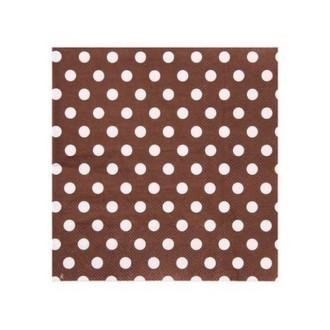 Serviette en papier chocolat à pois en papier