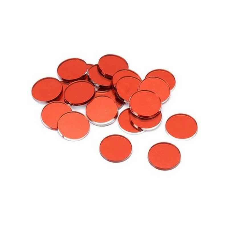 Miroirs d coratifs rouges perles de pluie et confettis for Miroir en plastique