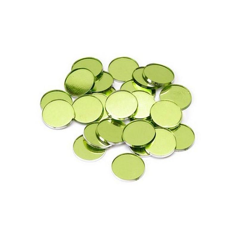 Miroirs d coratifs vert anis perles de pluie et for Miroir en plastique
