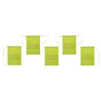 Guirlande banderole anniversaire vert anis