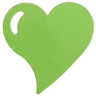 Coeur métal sur pince vert anis x4