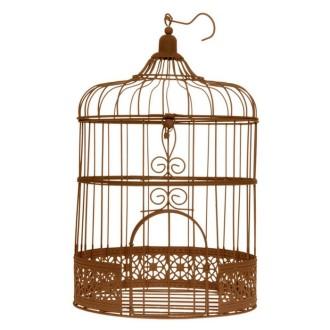 Urne cage ronde coloris rouille