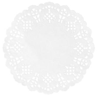 10 Sets de table ronds Dentelle blanc