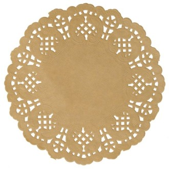 10 Sets de table ronds Dentelle kraft