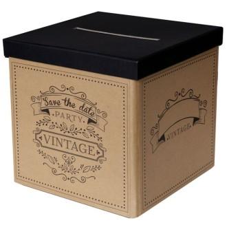Urne tirelire mariage Vintage Kraft