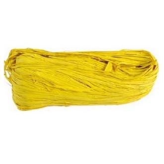 Raphia naturel teinté jaune vif