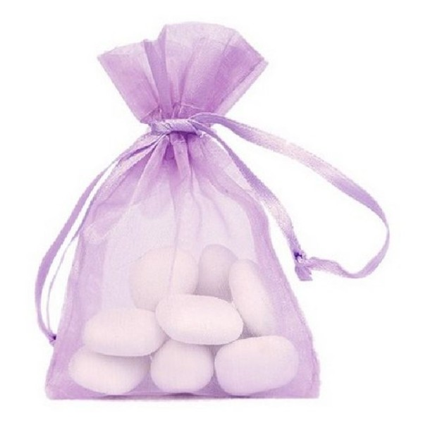 Sachet organdi lilas x10 - Photo n°1