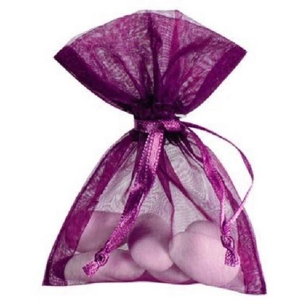 Sachet organdi violet x10 - Photo n°1