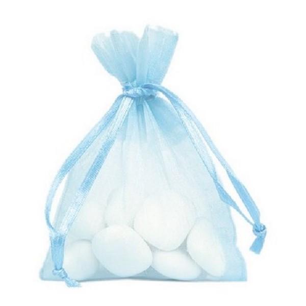 Sachet organdi bleu clair x10 - Photo n°1