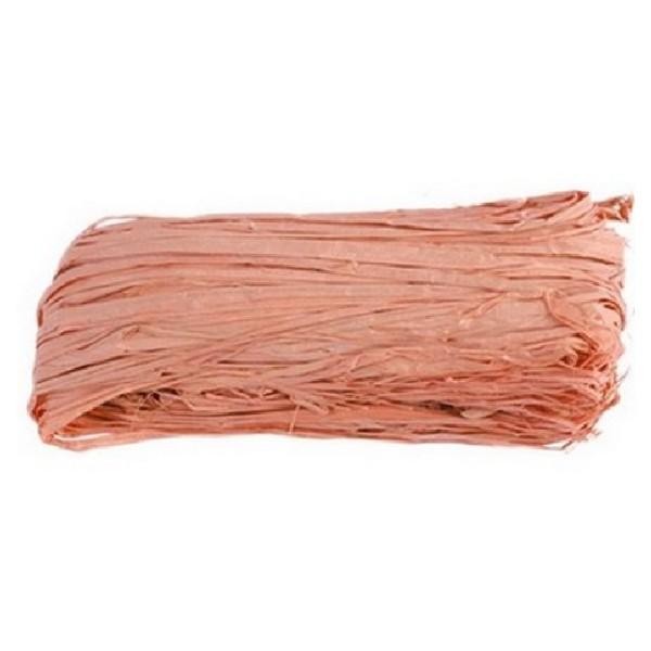 Raphia naturel teinté rose clair - Photo n°1