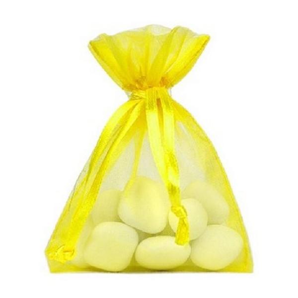 Sachet organdi jaune vif x 10 - Photo n°1