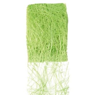 Ruban abaca vert . Larg.7cm. Rouleau de 5 mètres