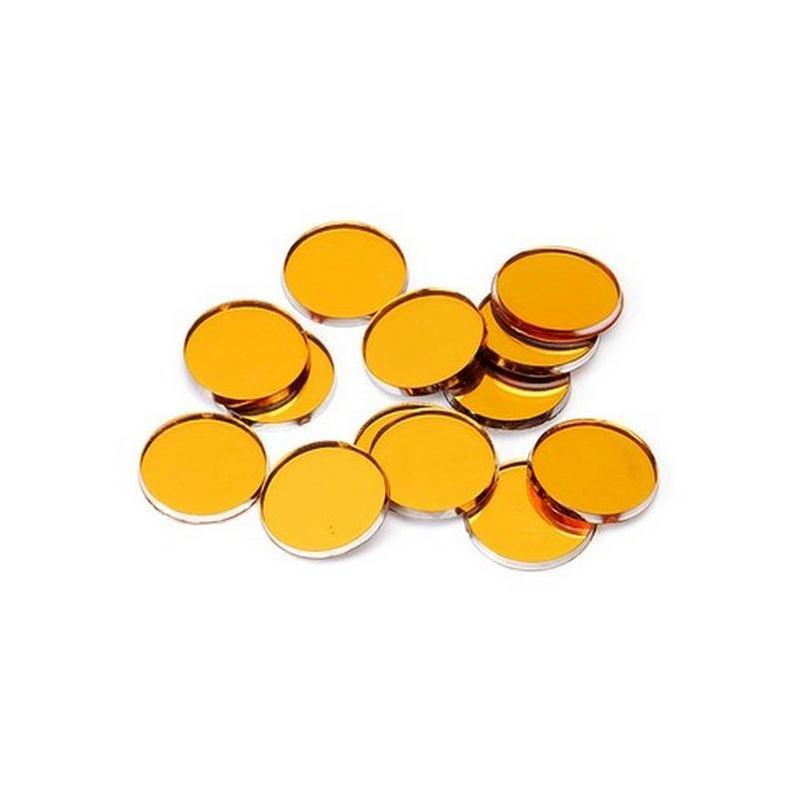 Miroirs d coratifs orange perles de pluie et confettis for Miroir en plastique
