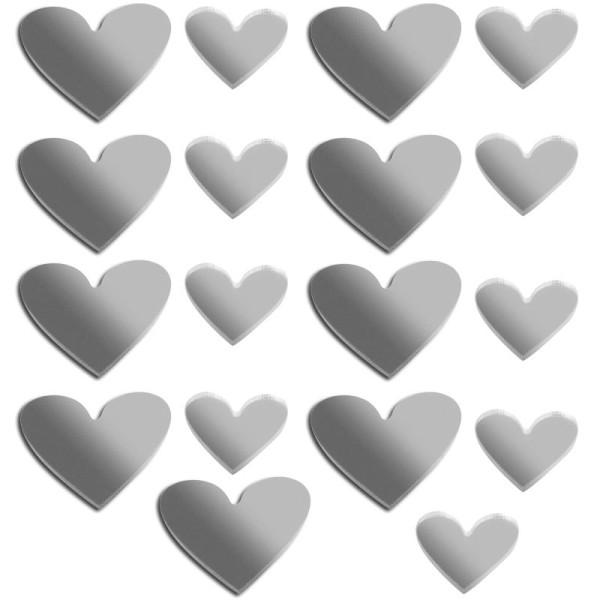 Miroir déco Coeur x 18 - Photo n°1
