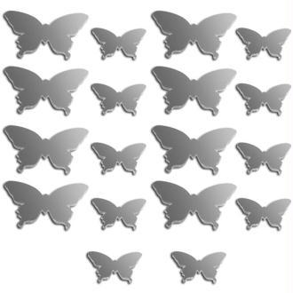 Miroir déco Papillon - 2 à 3 cm - 18 pcs