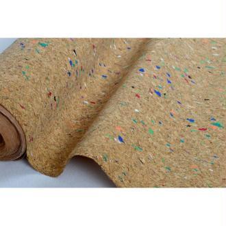Tissu au mètre coll. Cortex liège paillettes multicolore laize 140 - vendu par 10 cm