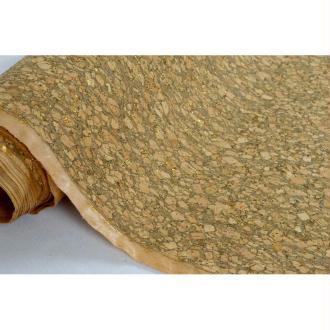 Tissu au mètre coll. Cortex liège paillettes or laize 140 - vendu par 10 cm