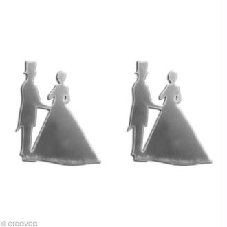 Miroir autocollant Couple x 2