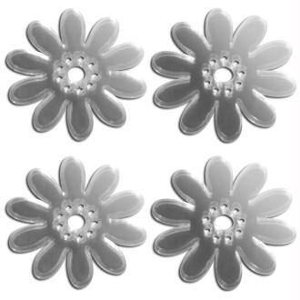 Miroir autocollant Fleur x 4