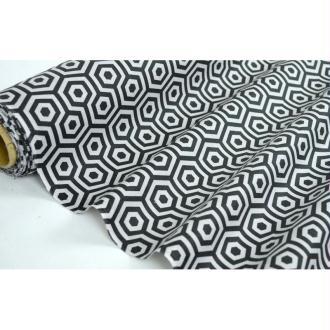 Tissu en coton coll. Alvinia noir/gris laize 160 cm - vendu par 10 cm