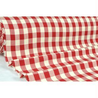 Tissu en coton col. Campagne rouge laize 160 - vendu par 10 cm