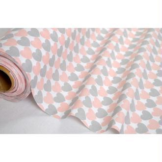 Tissu en coton coll. Kristina rose laize 160 - vendu par 10 cm