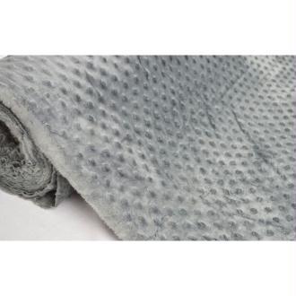 Tissu en acrylique coll. Minky pois anthracite laize 150 cm - vendu par 10 cm