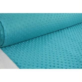 Tissu en acrylique coll. Minky pois canard laize 150 cm - vendu par 10 cm