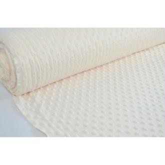 Tissu en acrylique coll. Minky pois écru laize 150 cm - vendu par 10 cm