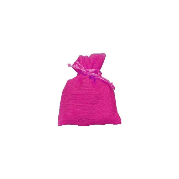 Sachet coton fuschia x10 - Photo n°1