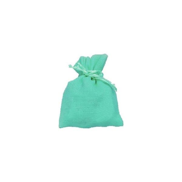 Sachet coton turquoise x10 - Photo n°1