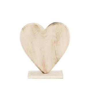 Coeur en bois sur pied