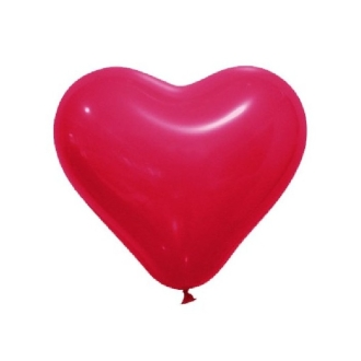 12 Ballons opaques forme coeur rouge 28cm