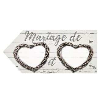 2 Flèches de direction Mariage romantique