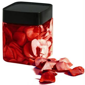 Pétales de rose en papier rouge 2,5 cm
