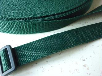 Sangle 25 mm polypropylène vert foncé - au mètre - résistante et  imputrescible
